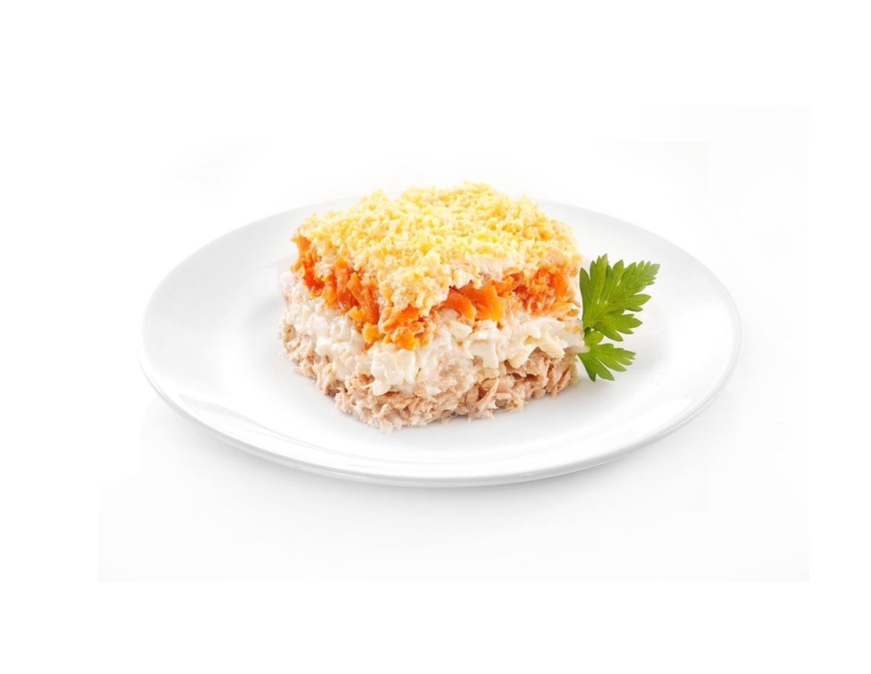 Салат мимоза с семгой слоями рецепт